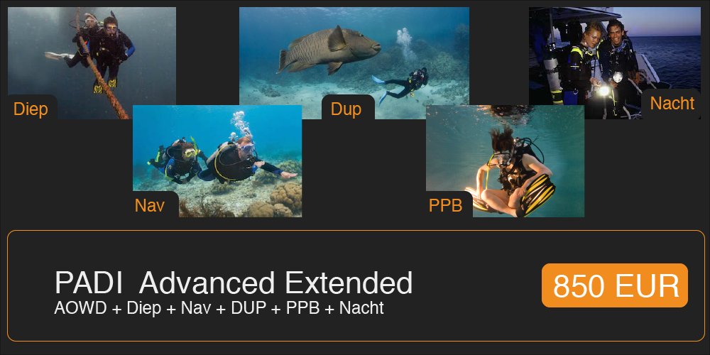 Promotie PADI Advanced Extended